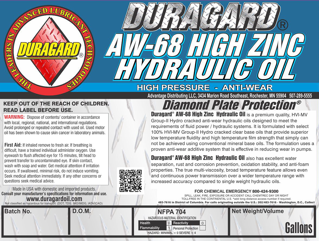 Duragard® Diamond Plate® AW-68 High Zinc Hydraulic Oil